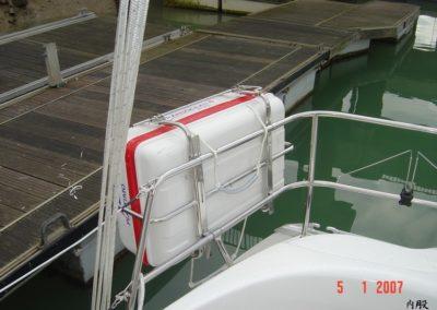 Installation support de survie balcon arrière sur Bavaria
