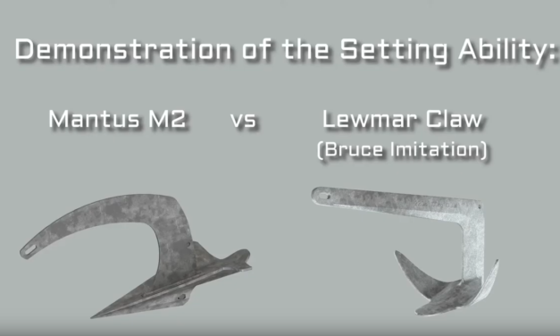Vidéo comparative : l'Ancre M2 MANTUS VS l'Ancre Lewmar Claw Bruce Design hd